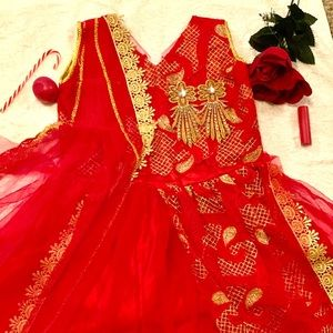 Party wear Red gown dress